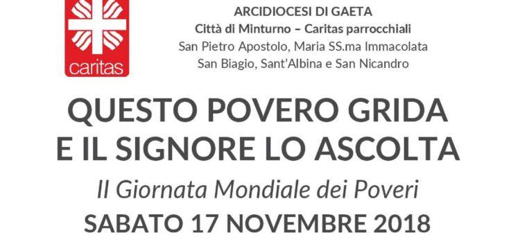 II Giornata Mondiale dei Poveri, Minturno: colletta alimentare per le Caritas parrocchiali