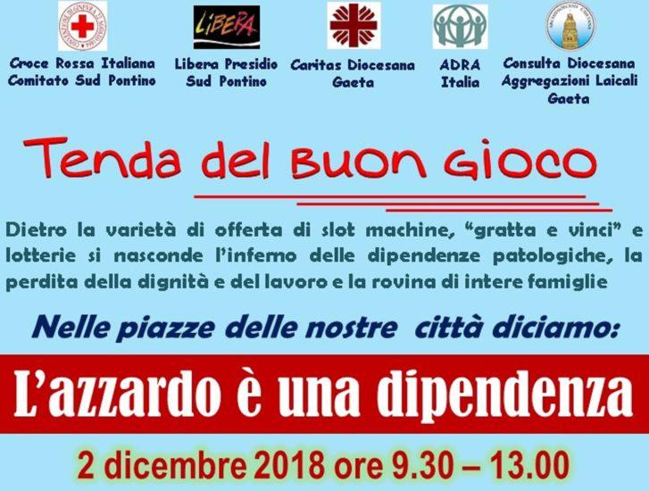 Azzardo, prossima Tenda del buon gioco S.S. Cosma e Damiano, 2 dicembre