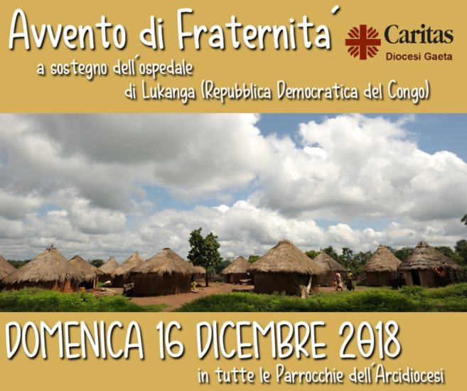 Avvento di Fraternità 2018, Caritas Gaeta: un aiuto ai nostri fratelli del Congo