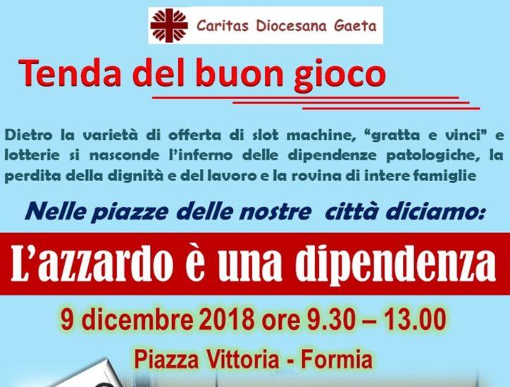Caritas contro azzardo, prossimo appuntamento domenica 9 dicembre a Formia